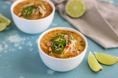 Our hearty Slow Cooker White Chicken Chili takes just 10 minutes to prep! Great for busy weeknights & freezer meal cooking. Paleo, Whole30, Dairy-free