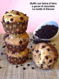 Muffin con farina di farro e gocce di cioccolato