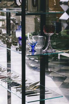 "WUNDERKAMMER storage unit in transparent glass and aluminium, design Piero Lissoni, Glas Italia 2015 collection. On show at WUNDERKAMMER exhibition - lifestylestore ""Via Garibaldi 12"" in Genoa. Until October 17, 2015 www.viagaribaldi12.com  #wunderkammer #pierolissoni #glasitalia #viagaribaldi12 | ph #cartacarbonestudio"