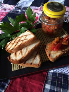 Chunky Char-grilled Capsicum and Ginger Chutney #glutenfree