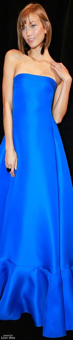 Model: Karlie Kloss for Ralph Lauren Spring 2014 Backstage