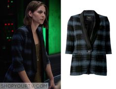 THE FLASH: SEASON 2 EPISODE 8 THEA'S BLUE PLAID BLAZER