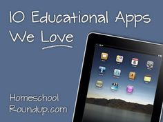"""Educational Apps (Check out our Android App too! """"IEW Writing Tools"""" iOS version coming soon...)"""