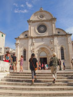 The Cathedral of St. James in Sibenik, Croatia, is a UNESCO World Heritage Site.