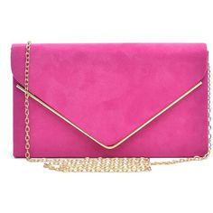 Dasein Ladies' Velvet Evening Clutch Handbag Formal Party Clutch For... ($14) ❤ liked on Polyvore featuring bags, handbags, clutches, hand bags, pink purse, party clutches, formal clutches and man bag