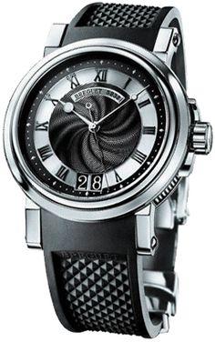 Breguet Marine Automatic Black Dial Black Rubber Strap Mens Watch $12,400.00