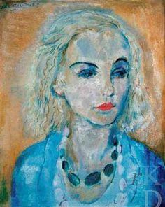 Jan Sluijters - Portret van Karin Leyden (1930)