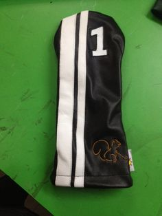 some new custom leather golf headcovers from Sunfish www.sunfishsales.com