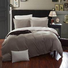 Jersey Bedding Set - Khaki Grey