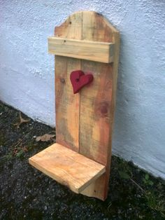 made by johnnie d d (Irish huckster reclaimed wood projec