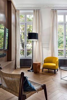 Париж, который мы любим: великолепные современные апартаменты в старом доме   Пуфик - блог о дизайне интерьера