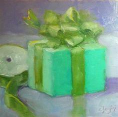 "Daily Paintworks - ""Purple and Green"" - Original Fine Art for Sale - © Carol Josefiak"