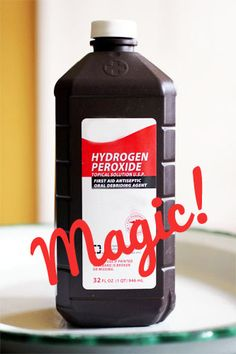 Tons of uses for hydrogen peroxide. The list is full of tips. I had no idea for you could use this for so many things! So glad I saw this pin!!