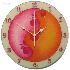 Egyedi, kézzel festett, üveg falióra, hangtalanul működő óraszerkezettel. Clock, Wall, Home Decor, Watch, Decoration Home, Room Decor, Clocks, The Hours, Interior Decorating