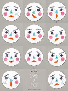 Face DiY emotion toy by Mr. Printable