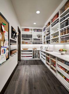 Small Kitchen Pantry, Pantry Room, Kitchen Pantry Design, Walk In Pantry, Kitchen Pantries, Small Kitchens, Kitchen Ideas, Walkin Pantry Ideas, Modern Rustic Kitchens