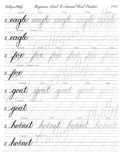 Calligraphy Practice Sheets Free, Cursive Writing Practice Sheets, Handwriting Practice Worksheets, Cursive Writing Worksheets, Calligraphy Worksheets Free, Calligraphy Templates, Teaching Cursive, Cursive Fonts, Copperplate Calligraphy