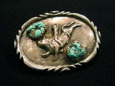 "Buckle with bull rider - Old Pawn Jewelry ""Buckle with bull rider"""