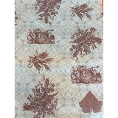 Teal damask Fall Table Runner- Brown stencil leaves, teal- Harvest... (160 NOK) ❤ liked on Polyvore featuring home, kitchen & dining, table linens, brown table runner, thanksgiving napkins, damask napkins, autumn napkins and brown napkins