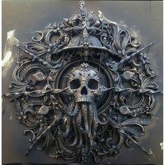 Cthulhu sculpture by Cam Rackam sculpture cthulhu lovecraft hplovecraft deepones darkart originalart