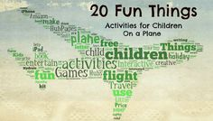 20 Fun Things to Do On A Plane - Activities for Children