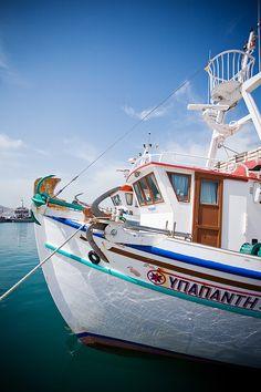 Boat in Naousa, Paros, Greece