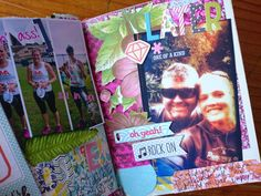 Art journalling: my first half marathon Navel Gazing, One Half, Aspergers, Journalling, Marathon, Discovery, My Arts, Crafty, Running