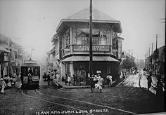 Ilaya and Juan Luna Sts (*ctto) Retro Pi, Philippine Architecture, Philippines Culture, Filipiniana, Pinoy, Pictures To Paint, Vintage Pictures, Manila, Filipino