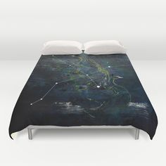 the SWAN_stardust Duvet Cover by SEVENTRAPS | Society6
