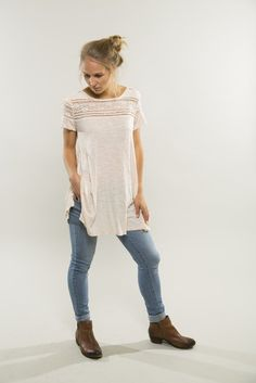 Grace Lace Tunic #fall #lace-tee #vintage-tee