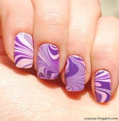 Water marble by Yasinisi from Nail Art Gallery