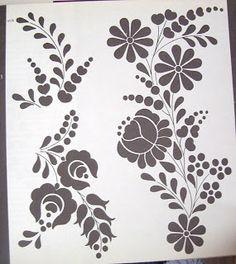Hungarian folk motifs: floral Kalocsa