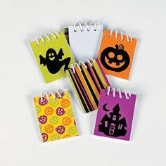Mini Iconic Halloween Spiral Notepads - OrientalTrading.com