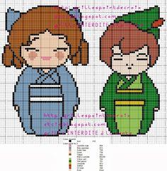 Wendy and Peter Pan Kokeshi