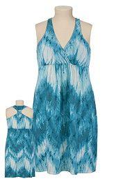 Knot Back Tie-Dye Dress