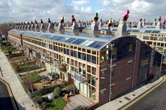 Aerial view of BedZED by One Planet Living in Sutton, via Flickr