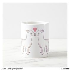 Llama Love Coffee Mug Craft Stick Crafts, Diy Crafts, White Coffee Mugs, Coffee Cup, Bachelorette Gifts, Kawaii, Personalized Coffee Mugs, Mother's Day Diy, Mermaid Blanket