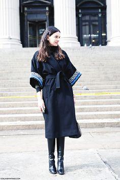 New_York_Fashion_Week-Street_Style-Fall_Winter-2015-Kimono- by collagevintageblog, via Flickr