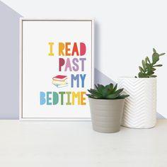 """""""I Read Past My Bedtime"""" - Framed Mini Children's Print"""