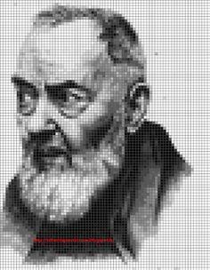 Ricami, lavori e schemi a puntocroce gratuiti: Punto croce Padre Pio