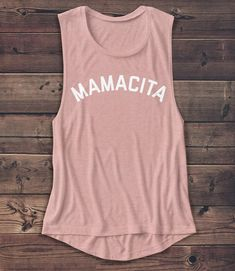 Etsy Mamacita - Women's Muscle Tee - Muscle Tank - Mother's Day Shirt -Mom - Coffee - Graphic Tee - Fashion #mothersday #giftsforher #etsy #ad