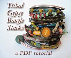 Gypsy Stack Bangle Bracelets - PDF Tutorial at Humblebeads Blog