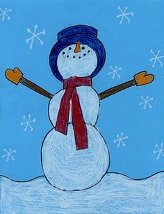 art lessons: winter on Pinterest | Snowman, Elementary Art and ...