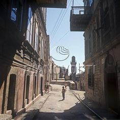 Улица старой части города Баку. 1970 год