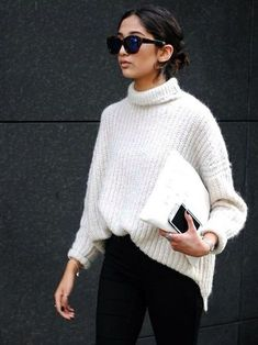 5 ways to style your knitwear like a fashionista Mode Outfits, Fall Outfits, Casual Outfits, Fashion Outfits, Fashion Weeks, Christmas Outfits, Couple Outfits, Party Outfits, Christmas Sweaters