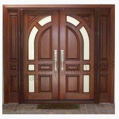 Main Door Teak Wood Double Front Door Design Photo Detailed about
