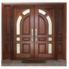 Solid Diyar Wood Double Door With Solid Sides Frame Hpd507 - Main Doors - Al Habib Panel Doors