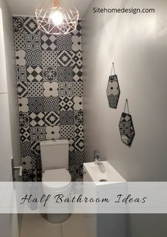 Thrill Your Site visitors with These 14 Adorable Half-Bathroom Layouts Small Toilet Decor, Small Toilet Room, Tub Shower Combo, Shower Tub, Cloakroom Toilet Downstairs Loo, Wc Decoration, Bathroom Design Small, Bathroom Interior, Tiny Powder Rooms