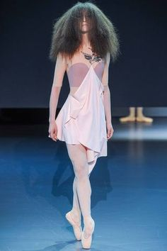Very literal ballerina inspiration at Viktor & Rolf Spring 2014 Couture Collection