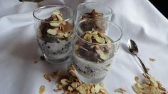 deser z mlekiem kokosowym i owocami, dessert with coconut milk and fruit